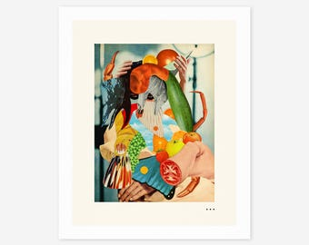 HOLLYWOODLAND (Giclée Fine Art Print/Photo Print/Poster Print) Surreal, Abstract Collage