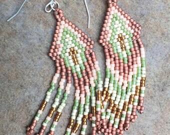 Fringed Seed Bead Earrings