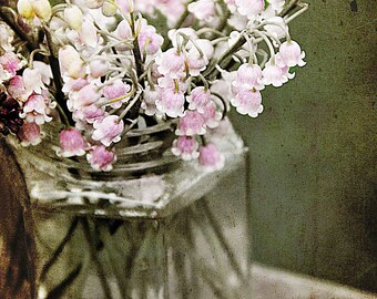 Lilies of the Valley Photo Print, Farmhouse Art Print, Pink Floral Wall Art, Pastel Pink Print, Farmers Market Print, Flowers Photo Print
