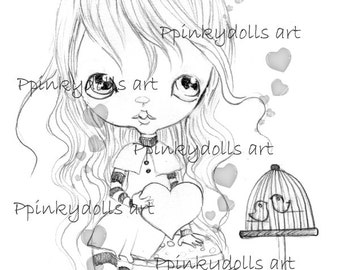 INSTANT DOWNLOAD Digital Digi Stamps..by Chrishanthi's art,Alyce Love '