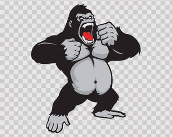 Decal Sticker Male Gorilla Motorbike Waterproof Vinyl 07998