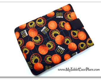Handcrafted, Tablet Case, iPad Case, Basketball, Sports, iPad Mini Case, Kindle Case, Tablet Sleeve, Cozy, Handmade, FOAM Padding, Gift