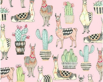 SALE - Michael Miller - Lovely Llamas Collection - Lovely Llamas in Pink