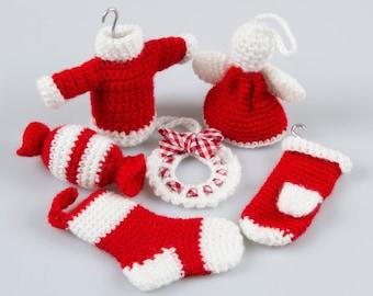 Amigurumi Christmas Ornament, Crochet Pattern Christmas Ornament, Amigurumi Christmas Decor, Crochet Christmas Decor, Gift Package  P027