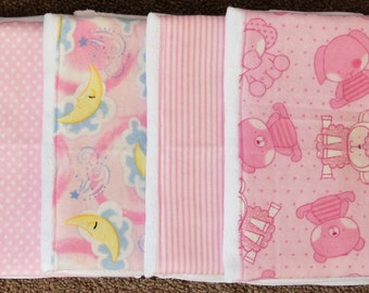 Burp Cloths - Set of 4 ~ #2G-1355