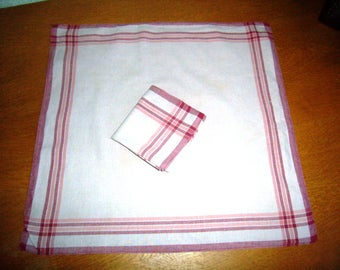 Vintage french set of handkerchiefs for men or women, set of 2