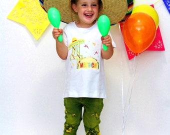 Taco Birthday Shirt - Fiesta Shirt - Personalized Birthday Shirt - Taco Birthday - Taco Party -  Taco Fiesta Shirt - Kids Birthday Shirt
