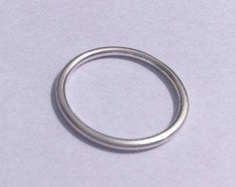 Sterling Silver Plain Band. Wedding Band. Slim Silver Ring. Stacking Ring. Simple Band