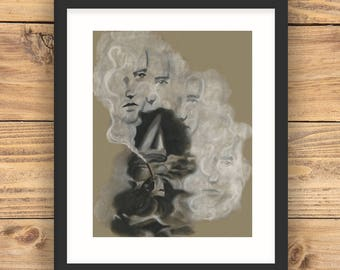Lady Dreaming A4 Art Print, A4 Limited Edition Art Print, Fine Art Print, Home Decor, Wall Art, Giclee print, A4 Giclee Print, Poster Art