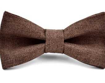 mens bowtie in brown suiting material brown bow tie rustic
