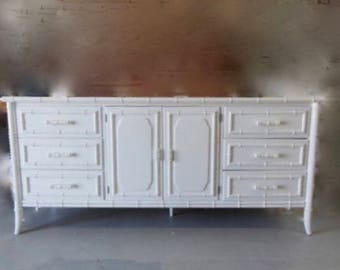 Faux Bamboo Dresser. Have some great sets available for customizing  /finished in white/Matching pieces available