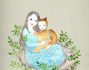 My wild one Mate Edition Print mom and baby