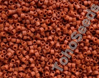 5g Toho 11/0 Treasure Cylinder Seeds Beads Opaque Matte Terra Cotta TT-01-46LF Cylinder Rocailles Frosted Terracotta Brown