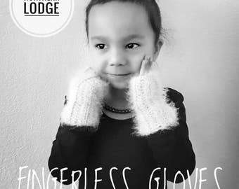 Fingerless gloves toddler gray fuzzy fashion winter fall for her