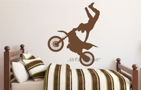 Dirt Bike Decals Motorcycle Wall Decal Boys Bedroom Decals