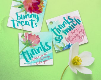 Some Bunny Party Favor Tags, Instant Download, Printable, Bunny Rabbit Party Favor, Rabbit Party Gift Tags, Bunny Party Goodie Bags