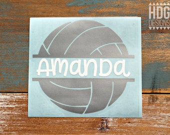 Volleyball Decal - Name decal - Vinyl decal - Yeti Decal - Car Decal - Monogram decal - Volleyball Name decal - RTIC decal - decal