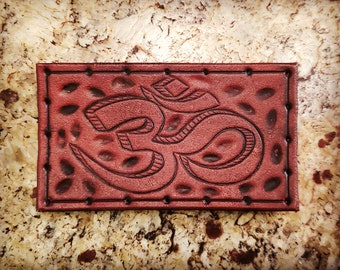Leather Patch - Om - Sew On Anything - hand made by American Made Upgrades