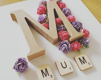 Handcrafted Mum Rose Frame