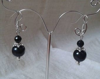 "Earrings ""black pearls duo"""