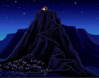 The Secret of Monkey Island - DMC Cross Stitch Chart