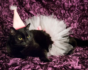 Cat Tutu in Pink Cat Birthday Cat Costume Birthday Cat