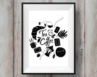 Tea and Coffee Print