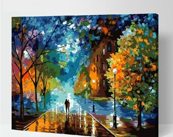 Landscape DIY Painting Kit Paint By Numbers Kit DIY Oil Painting On Canvas Gifts Wall Art Handmade Gift DIY Kits Craft Kit