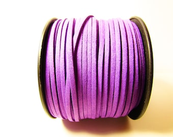 D-02693 - 2 m  Faux suede cord purple