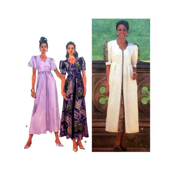 Kleid von Shanti Damen-Schnittmuster kurze Puffärmel