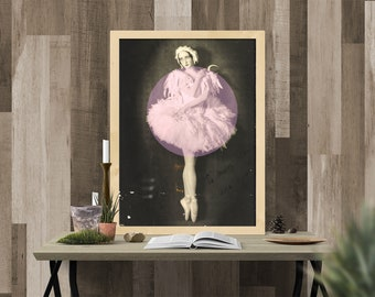 Art Print: Pink Ballerina Dancer