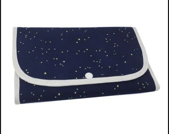 "Tri-Fold ""Moonlit Fox"" Cosmetic/Accessory Bag"