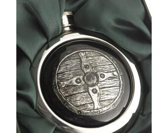 Saxon Shield Whiskey Flask