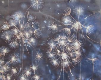 Dandelion Fireworks Print, A3