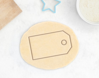 Gift Tag Cookie Cutter - Christmas Cookies Christmas Gift Christmas Cookie Cutter Present Tag Cookie Cutter Scalloped Baby Shower Cookies