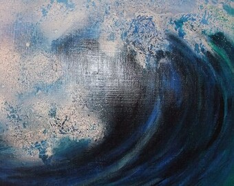 Acrylic painting, square wave, abstract,