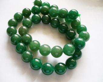 Aventurine Beads Gemstone Green  Round 10mm