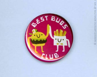 "Best Buds Club 1"" Pin-Back Button"
