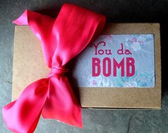 Thank You Gift. Body Butter & Lotion Bar. Thank You Gifts for Women. Teacher Gift. Hostess Gift. Gift Box. Spa Gift Set. You Da Bomb.