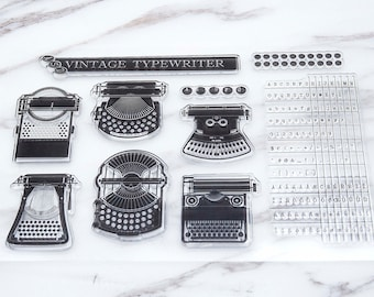Vintage Typewriter Stamp/ Character Table  Transparent Stamp/  Type Font  Rubber Stamp/