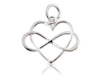 Sterling Silver 18x15.9mm Infinity Heart  With Soldered Jump ring - 1pc 10% discounted (5594)/1