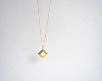 Brass  Necklace,Geometric Brass  Necklace