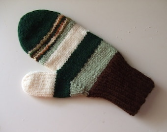 Hand Knit Mittens - Into the Forest - for Ladies/Teens