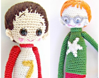 2- Crochet Pattern Special Deal, Buy the Crochet Doll Henry Pattern and the Crochet Doll Dani Pattern for Euro 10.00, Amigurumi Pattern