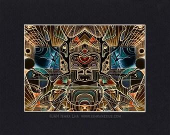 "12""x16"" Matted Eco Art Print - ""Alaya"" by Ishka Lha"