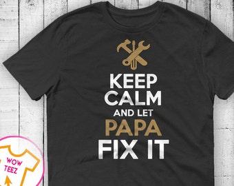 Funny Papa Tshirt Funny Gifts for Papa Papa Shirt  Personalized Papa Unique Gift for Papa Shirts for Papa Customized Papa Shirt Papa