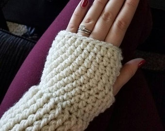 Fingerless Gloves CROCHET PATTERN: Easy, Crochet Gloves & Boot Cuffs, Winter Fashion Accessories