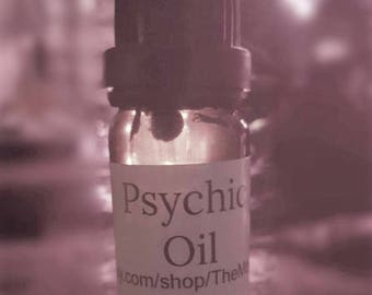 Psychic Oil for opening the third eye, visions, dream magick, clairvoyance, astral. With roots,resins,herbs, crystals and essential oils