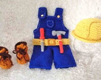 Baby Construction Worker/ Carpenter Outfit