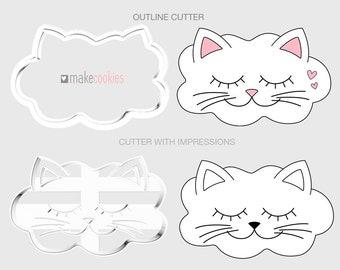 Kitty Cloud Cookie Cutter